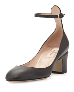 Tango Napa Leather Pump, Black