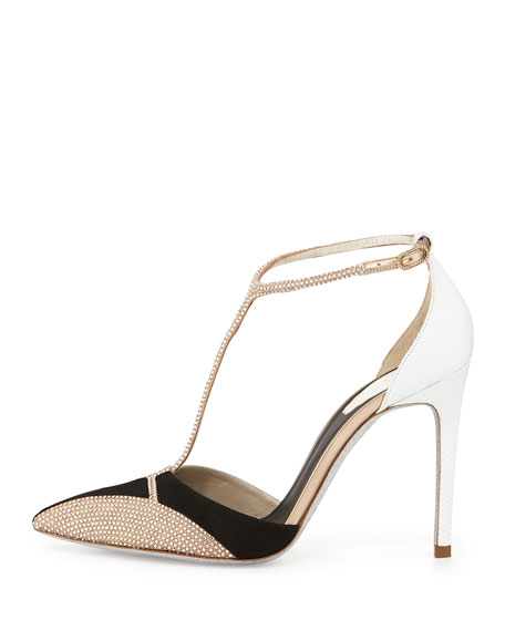 Crystallized T-Strap d'Orsay Pump