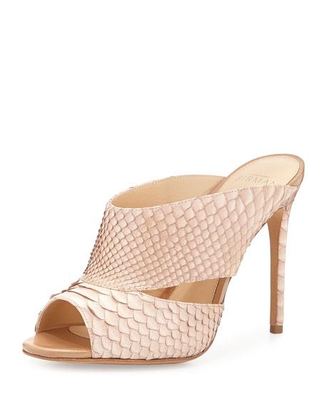Alexandre Birman Python Slide Sandals best prices rimVOY