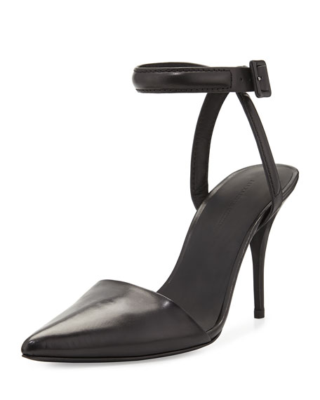 Alexander Wang Lovisa Leather Ankle-Strap Pump, Black
