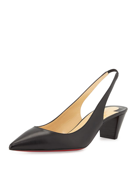 Karelli Point-Toe Low-Heel Red Sole Slingback