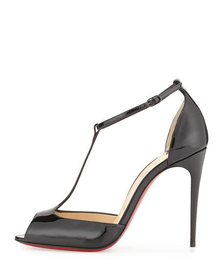 7f983c4c0c9 Senora Patent T-Strap Red Sole Sandal