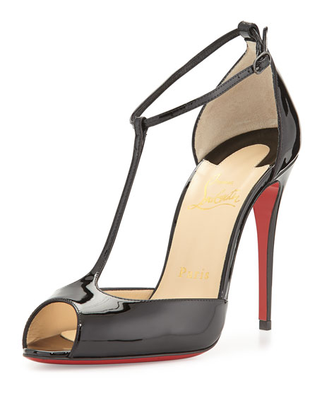 Senora Patent T-Strap Red Sole Sandal