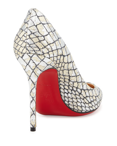 cheap christian louboutin shoes replica - christian louboutin embossed slingback pumps, red spiked shoes