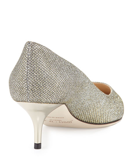 Aza Glitter Fabric Pump, Bronze