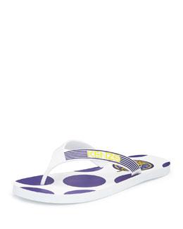 Polka-Dot Thong Sandal