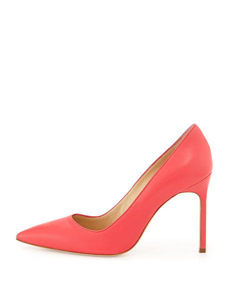 BB Leather 105mm Pump, Hot Pink