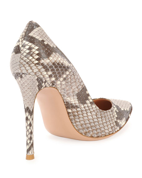 Python Point-Toe Pump, Gray