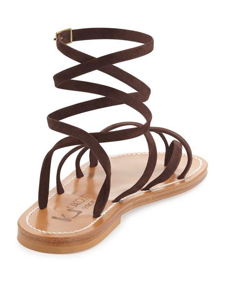 Zenobie Crisscross Lace-Up Sandal