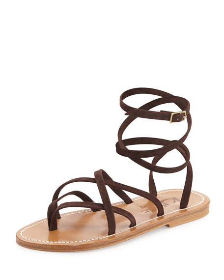Zenobie Crisscross Lace-Up Sandal