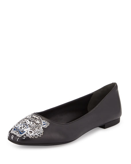 Kenzo Leather Ballet Flats 6Z9fFBgE