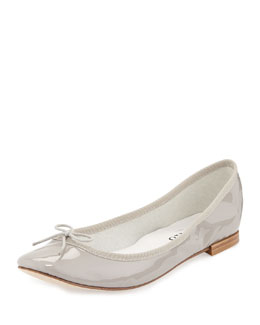 Patent-Leather Ballerina Flat