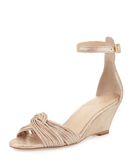 Anya Metallic Demi-Wedge Sandal
