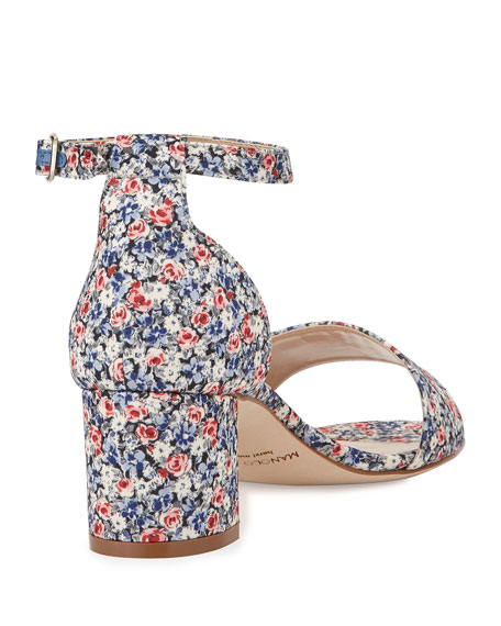 Laurato Floral Chunky Heel Sandal