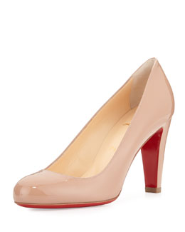 Fififa Patent Leather Pump, Neutral