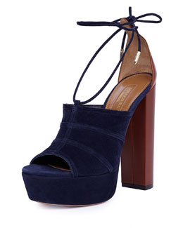 Very Eugenie Suede Ankle-Wrap Sandal