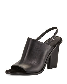 Cole Leather Slingback Mule, Black