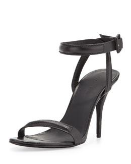 Antonia Ankle-Wrap Leather Sandal