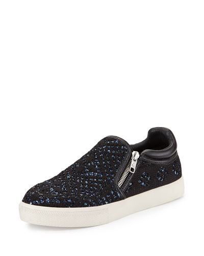 Intense Bis Sequined Woven Skate Shoe, Black/Blue