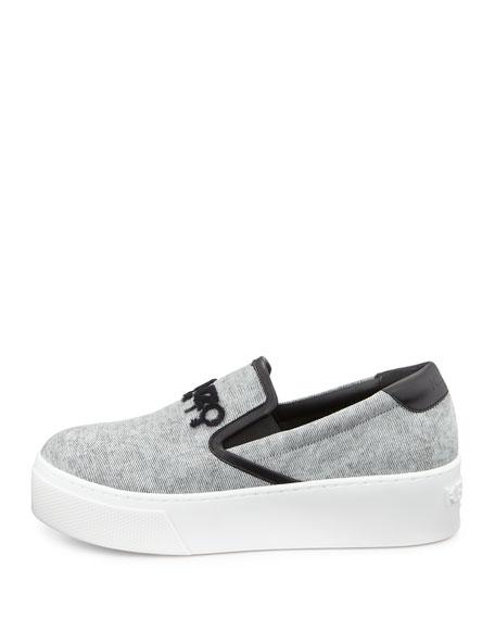 Platform Denim Skate Sneaker