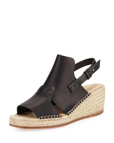 Sayre II Leather Wedge Espadrille