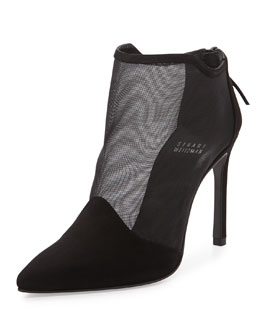 Escort Naked Ankle Bootie, Black