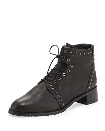 Lashease Studded Combat Boot, Black