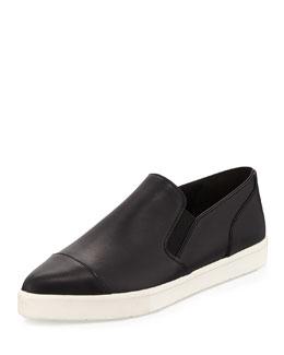 Paeyre Point-Toe Skate Sneaker, Black