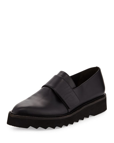 Ames Leather Creeper Loafer, Black