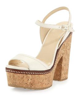 Naylor Napa Platform Sandal, Off White