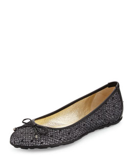 Walsh Glittered Ballet Flat, Black/Anthracite