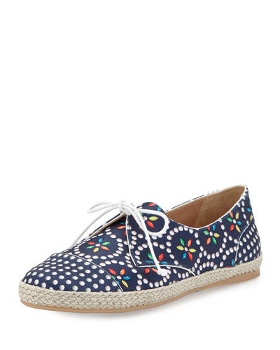 Dolly Dotted & Floral-Print Satin Sneaker