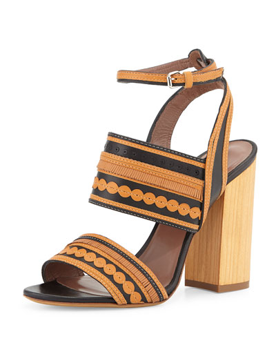 Shaewood Dotted Fringe Leather Sandal
