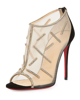 Signifiamma Mesh Red Sole Pump, Natural