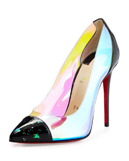 Debout Disco PVC Red Sole Pump, Multi