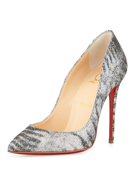 christian louboutin pigalle follies glitter red sole pump