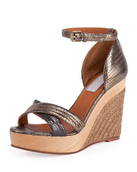Lanvin Metallic Wedge Espadrilles outlet 100% original nicekicks sale clearance store fashion Style outlet visa payment byikoV