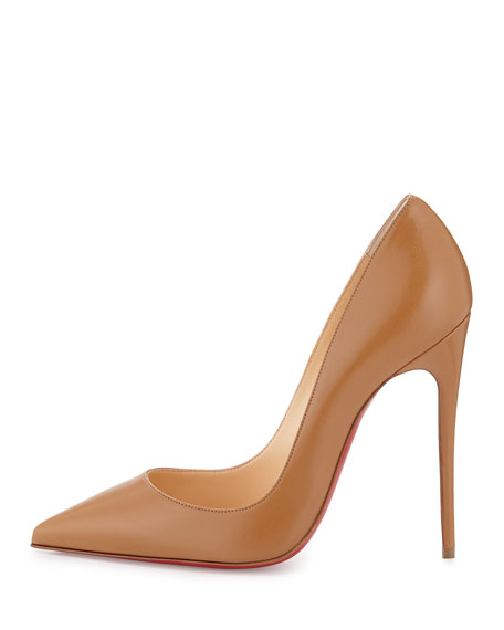 So Kate Point-Toe Red Sole Pump, Blush #3