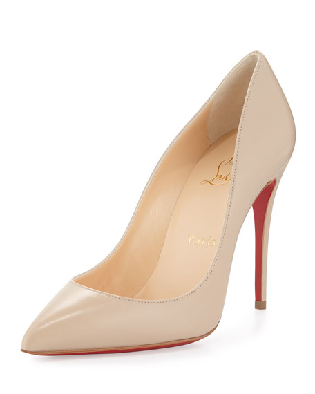 Pigalle Follies Low-Cut Point-Toe Red Sole Pump, Blush #1