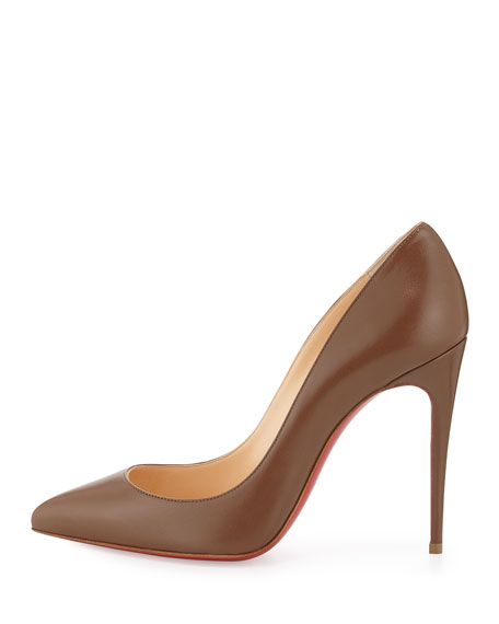 Pigalle Follies Low-Cut Point-Toe Red Sole Pump, Blush #4