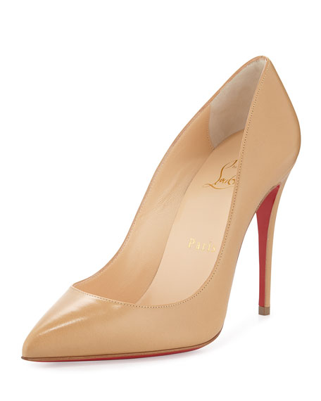 Pigalle Follies Low-Cut Point-Toe Red Sole Pump, Blush #2