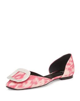 Ballerine Chips Ikat D'Orsay Flat, Pink