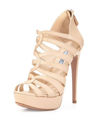 Strappy Cage High-Heel Sandal