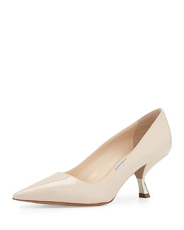 Patent Comma-Heel Point-Toe Pump