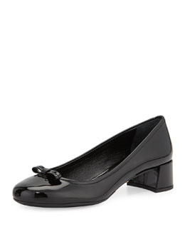 Patent Leather Ballerina Pump, Black
