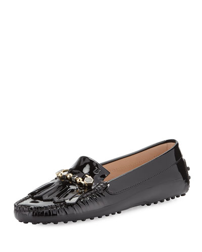 Gommini Fringe Patent Leather Loafer