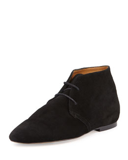 Ginger Suede Lace-Up Bootie