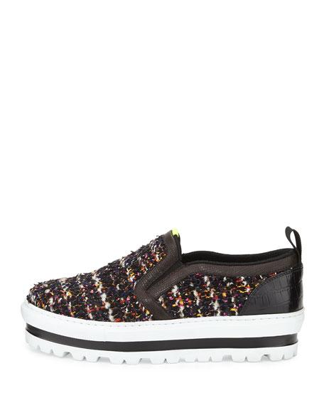 Platform Tweed Skate Shoe