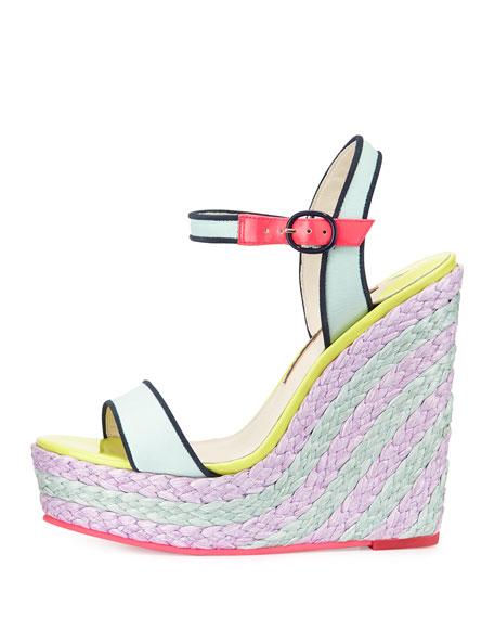 Lucita Espadrille Wedge Sandal, Aquamarine