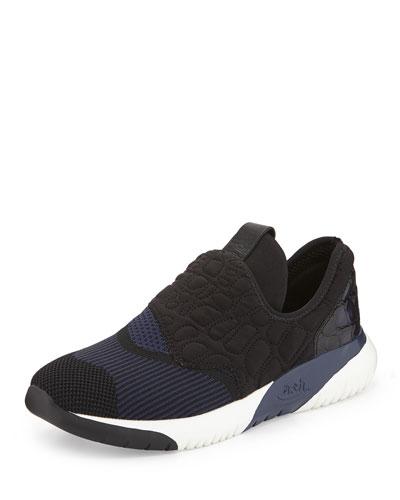 Soda Quilted Neoprene Sneaker, Black/Indigo